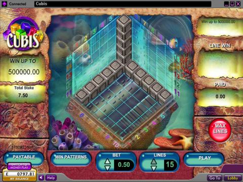 Cubis Fun Slots by 888 with 0 Reel and 15 Line