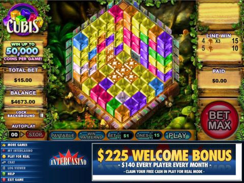 Cubis Fun Slots by CryptoLogic with 0 Reel and 15 Line