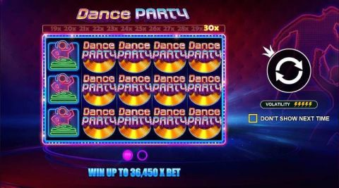Dance Party Fun Slots by Pragmatic Play with 5 Reel and 243 Line