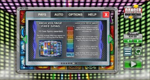 Danger High Voltage Fun Slots by Big Time Gaming with 6 Reel and 4096 Line