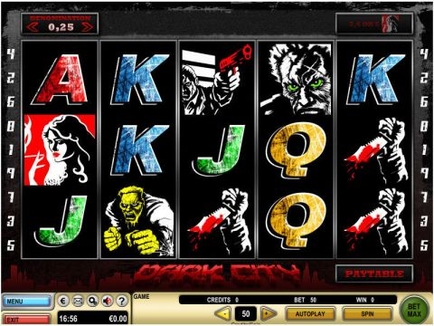 Dark City Fun Slots by GTECH with 5 Reel and 9 Line