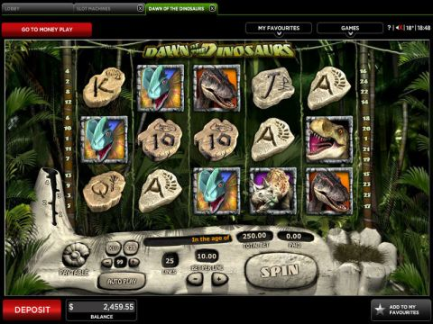 Dawn of the Dinosaurs Fun Slots by 888 with 5 Reel and 25 Line