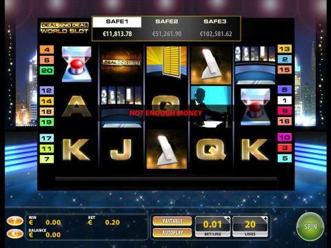 Deal or No Deal World Fun Slots by GTECH with 5 Reel and 20 Line