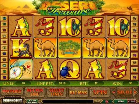 Desert Treasure Fun Slots by PlayTech with 5 Reel and 20 Line
