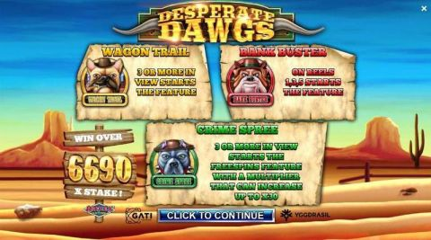 Desperate Dawgs Fun Slots by Yggdrasil with 5 Reel and