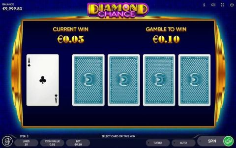 Diamond Chance Fun Slots by Endorphina with 5 Reel and 5 Line