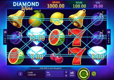 Diamond Wins: Hold&Win Fun Slots by Playson with 5 Reel and 10 Line