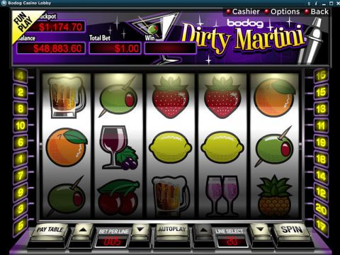 Dirty Martini Fun Slots by RTG with 5 Reel and 20 Line