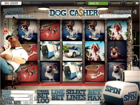 Dog Ca$her Fun Slots by Sheriff Gaming with 5 Reel and 20 Line