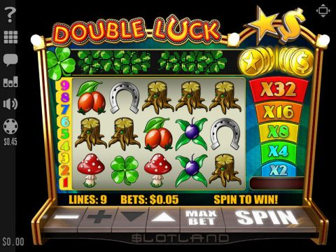 Double Luck Fun Slots by Slotland Software with 5 Reel and 9 Line