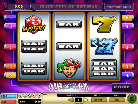 Double Sevens Fun Slots by GTECH with 3 Reel and 5 Line