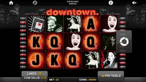 Downtown Fun Slots by 1x2 Gaming with 5 Reel and 25 Line