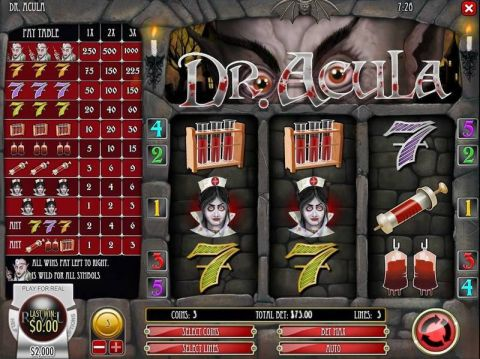 Dr. Akula Fun Slots by PlayTech with 3 Reel and 5 Line