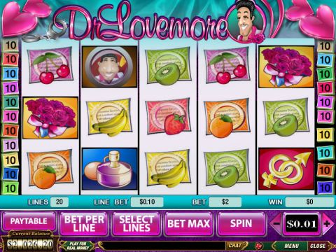 Dr Lovemore Fun Slots by PlayTech with 5 Reel and 20 Line