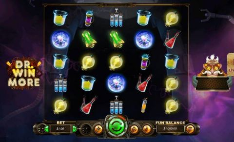 Dr. Winmore Fun Slots by RTG with 5 Reel and