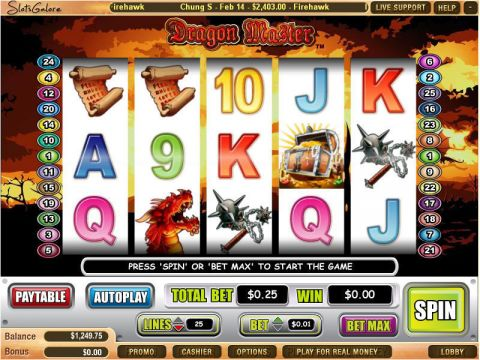 Dragon Master Fun Slots by WGS Technology with 5 Reel and 25 Line