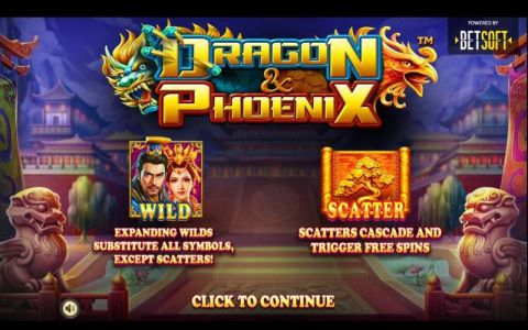 Dragon & Phoenix Fun Slots by BetSoft with 5 Reel and 20 Line