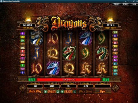 Dragons Fun Slots by RTG with 5 Reel and 25 Line