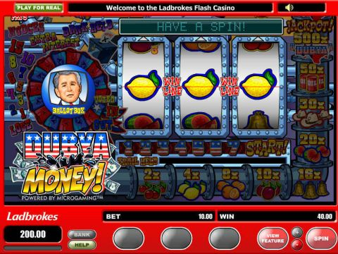 Dubya Money Fun Slots by Microgaming with 3 Reel and 1 Line