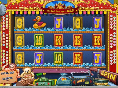 Duck Hunt Fun Slots by bwin.party with 5 Reel and 60 Line