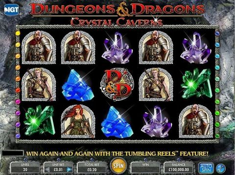 Dungeons & Dragons - Crystal Caverns Fun Slots by IGT with 5 Reel and 20 Line