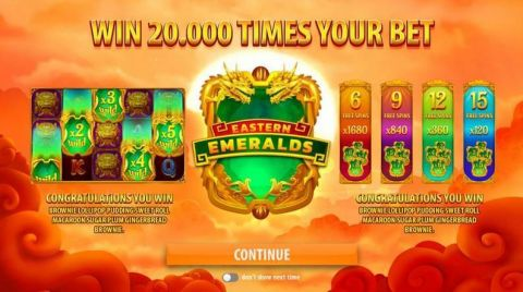 Eastern Emeralds Fun Slots by Quickspin with 5 Reel and