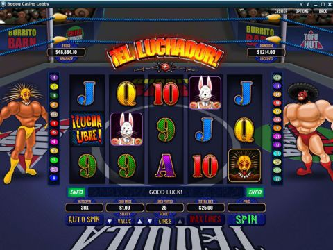 El Luchador Fun Slots by RTG with 5 Reel and 25 Line