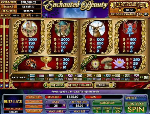 Enchanted Beauty Fun Slots by NuWorks with 5 Reel and 25 Line