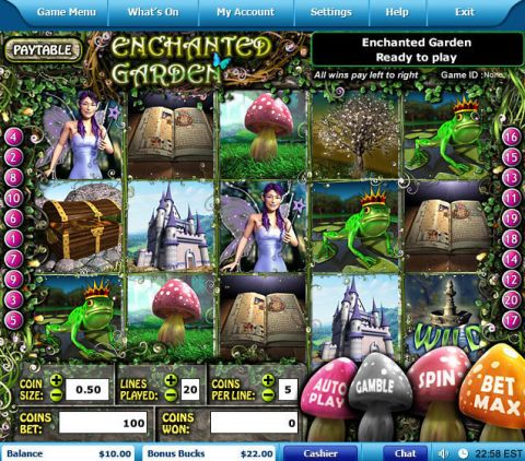 Enchanted Garden Fun Slots by Leap Frog with 5 Reel and 20 Line