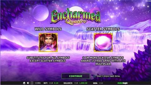 Encharmed Quattro Fun Slots by StakeLogic with 5 Reel and 5 Line