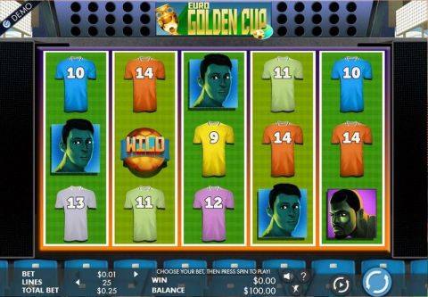Euro Golden Cup Fun Slots by Genesis with 5 Reel and 25 Line