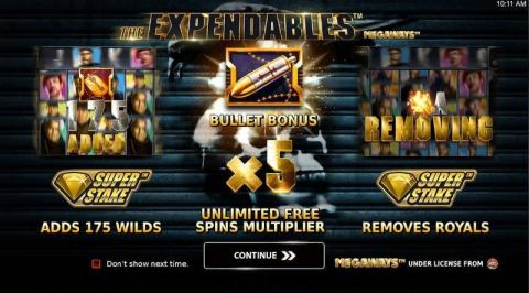 Expendables Megaways Fun Slots by StakeLogic with 5 Reel and 117649 Lines