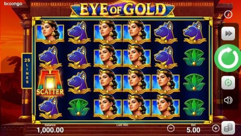 Eye of Gold Fun Slots by Booongo with 6 Reel and 25 Line