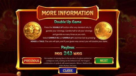Fa-Fa Twins Fun Slots by BetSoft with 5 Reel and 243 Line