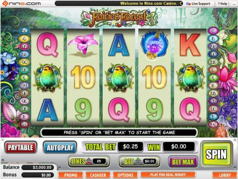 Fairies Forest Fun Slots by WGS Technology with 5 Reel and 25 Line