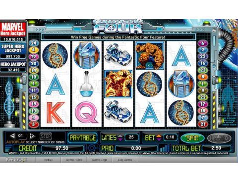 Fantastic Four Fun Slots by bwin.party with 5 Reel and 25 Line
