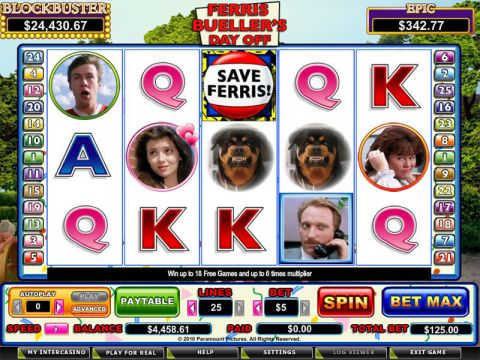 Ferris Bueller Fun Slots by CryptoLogic with 5 Reel and 25 Line