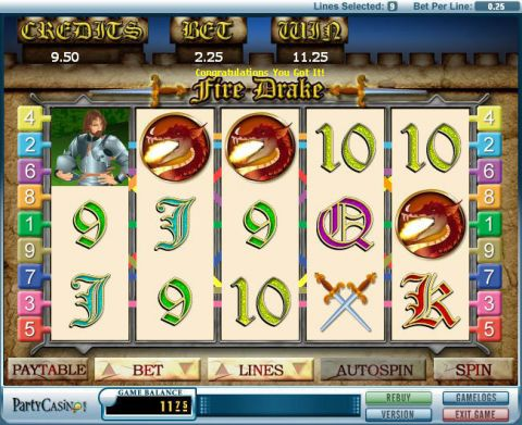 Fire Drake Fun Slots by bwin.party with 5 Reel and 9 Line