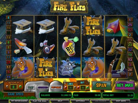Fire Flies Fun Slots by Amaya with 5 Reel and 25 Line