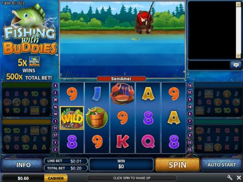 Fishing With Buddies Fun Slots by PlayTech with 5 Reel and 20 Line