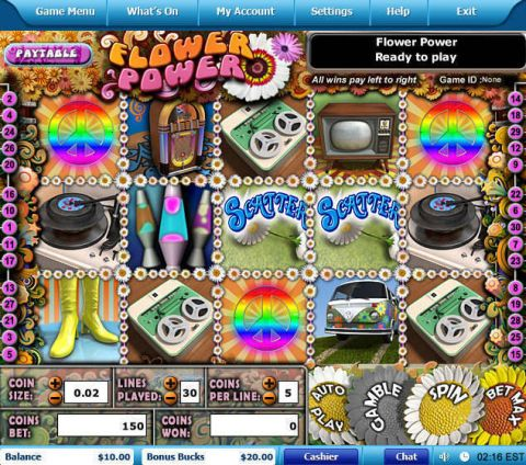 Flower Power Fun Slots by Leap Frog with 5 Reel and 30 Line
