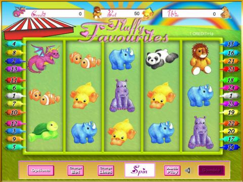 Fluffy Favourites Fun Slots by Eyecon with 5 Reel and 25 Line