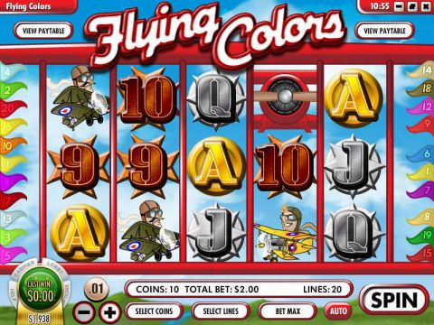 Flying Colors Fun Slots by Rival with 5 Reel and 20 Line