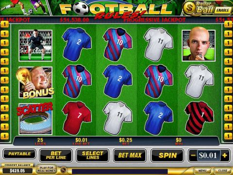 Football Rules! Fun Slots by PlayTech with 5 Reel and 25 Line
