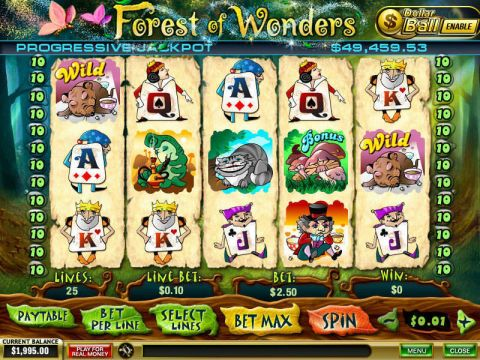 Forest of Wonders Fun Slots by PlayTech with 5 Reel and 25 Line