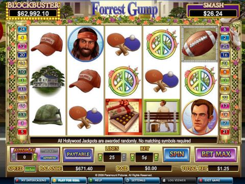 Forrest Gump Fun Slots by CryptoLogic with 5 Reel and 25 Line