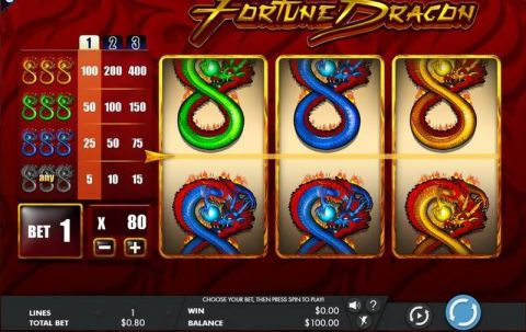 Fortune Dragon Fun Slots by Genesis with 3 Reel and 1 Line