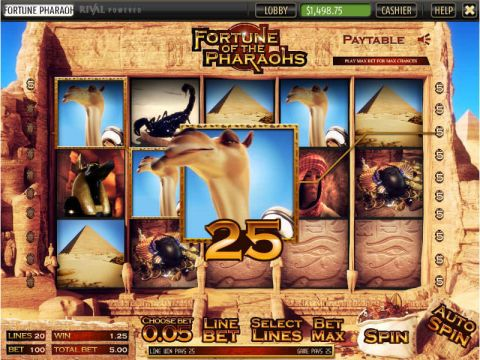 Fortune of the Pharaos Fun Slots by Sheriff Gaming with 5 Reel and 20 Line