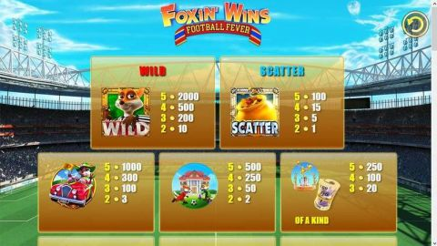 Foxin' Wins Fun Slots by NextGen Gaming with 5 Reel and 25 Line