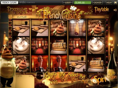 French Cuisine Fun Slots by Sheriff Gaming with 5 Reel and 20 Line